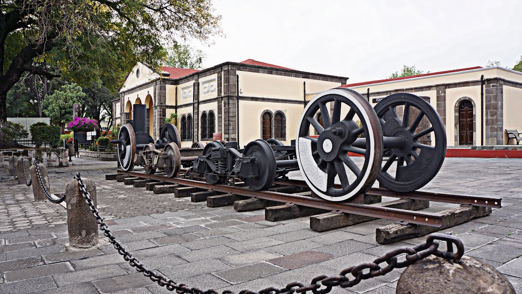 Parte de un ferrocarril en el Museo de los Ferrocarriles Mexicanos