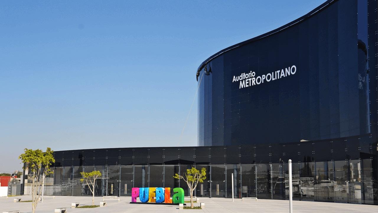 vista exterior del Auditorio Metropolitano de Puebla
